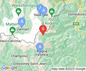 Karte für Macugnaga