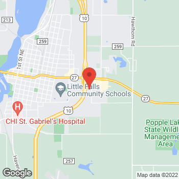 Map of Pizza Ranch at 202 Lemiuer Street, Little Falls, MN 56345
