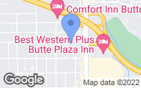 Map of Butte, MT