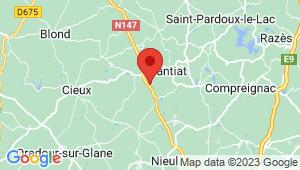 Carte de localisation du centre de contrôle technique NANTIAT