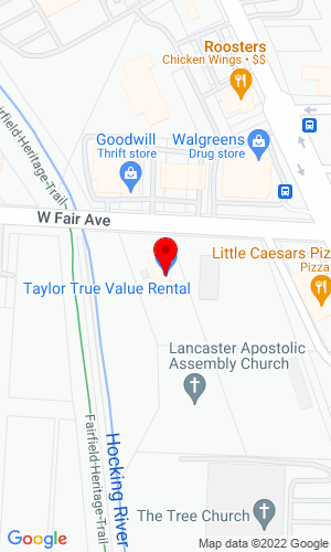 Google Map of Taylor Rental 450 West Fair Avenue, Lancaster, OH, 43130