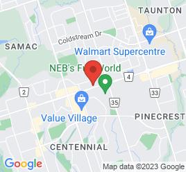 Google Map of 450+Taunton+Rd+East%2COshawa%2COntario+L1H+7K4