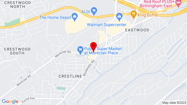 Google Map of 4500 Montevallo Road , Birmingham, Alabama 35210