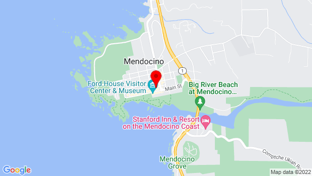 Google Map of 45007 Albion Street, Mendocino, CA 95460
