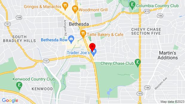 Google Map of 4508 Walsh Street, Bethesda, MD 20815