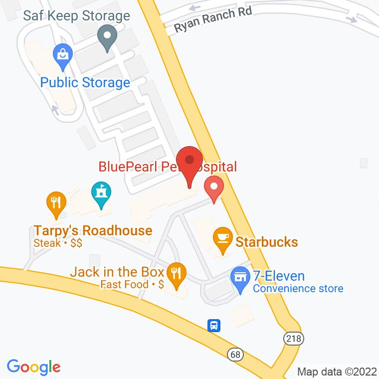 Google Map of 451 Canyon Del Rey Blvd., Del Rey Oaks, CA, 93940
