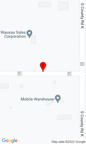 Google Map of Wausau Sales Corporation 4510 County Road F, Merrill, WI, 54452
