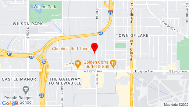 Google Map of 4511 S 6th St, Milwaukee, WI