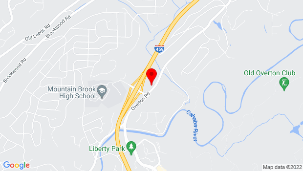 Google Map of 4520 Overton Road, Birmingham, AL 35242