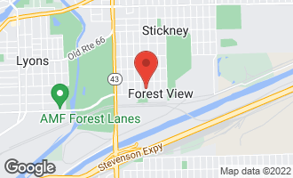 Map of 4524 Clinton Avenue Forest View, IL 60402