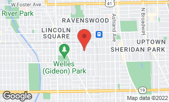 Map of 4530 North Damen Avenue CHICAGO, IL 60625
