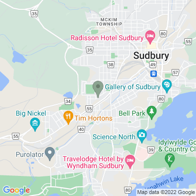 Google Map of 457 Haig St. Sudbury, ON, P3C 1C7 Canada