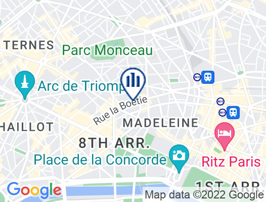 Google Map of 46, rue de La Boétie  75008 Paris  France