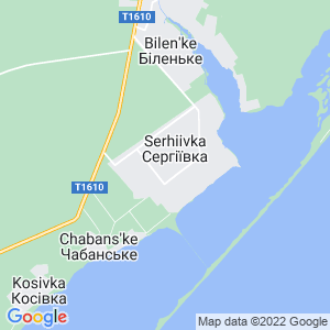 Карта города Сергеевки