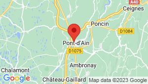 Carte de localisation du centre de contrôle technique PONT D AIN