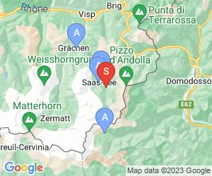 Karte für Saas Almagell