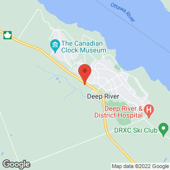 Map of Tim Hortons at 33235 Highway #17, Deep River, ON K0J 1P0