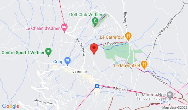 Carte situant Chalet à vendre, Verbier