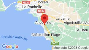 Carte de localisation du centre de contrôle technique ANGOULINS