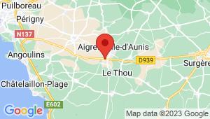 Carte de localisation du centre de contrôle technique AIGREFEUILLE