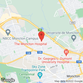 Map of Tim Hortons at 135 Mcbeath Ave, Moncton, NB E1C 6Z8