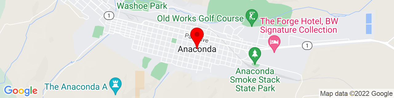 Google Map of 46.1262998, -112.9478359