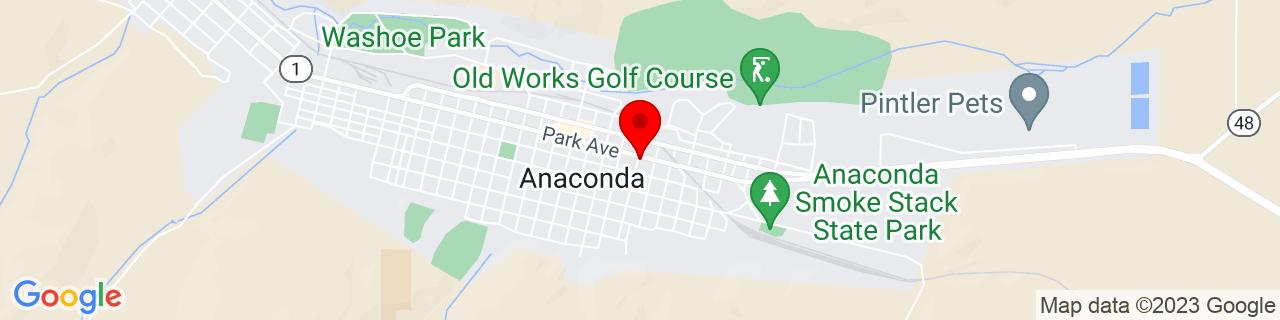 Google Map of 46.1274013, -112.9429228