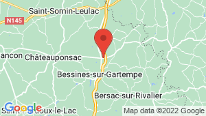 Carte de localisation du centre de contrôle technique BESSINES SUR GARTEMPE