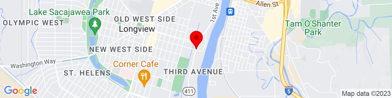 Google Map of 46.1349667, -122.9227065