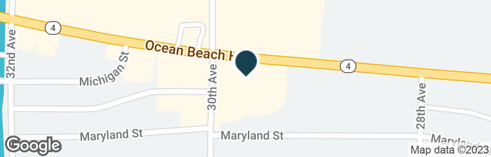 Google Map of2939 OCEAN BEACH HWY