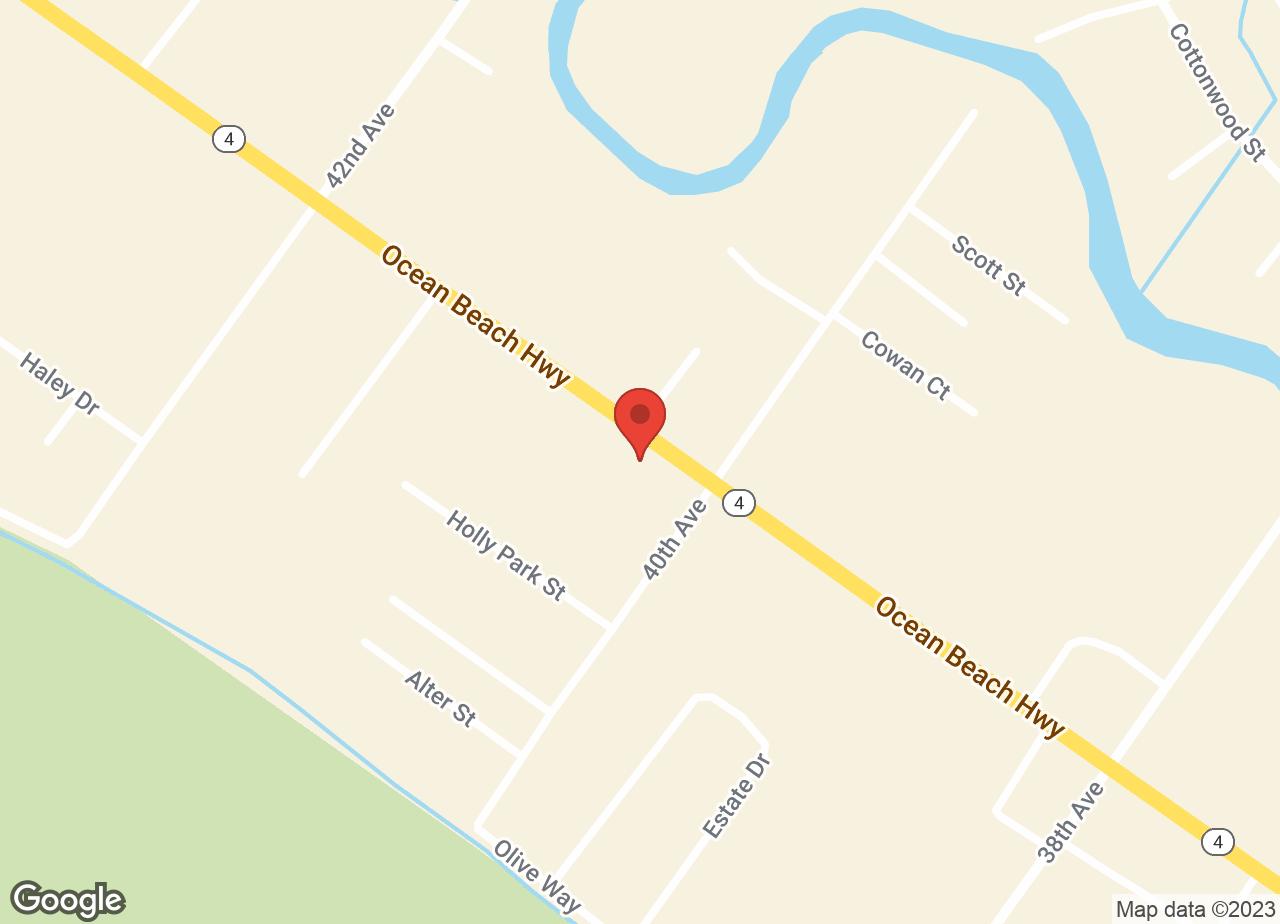 Google Map of VCA Ocean Beach Animal Hospital