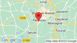 Carte de localisation du centre de contrôle technique PERONNAS