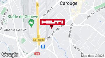 Wegbeschreibung zu Hilti Store Genève
