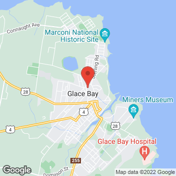 Map of Tim Hortons at 100 Mckeen St, Glace Bay, NS B1A 5C2