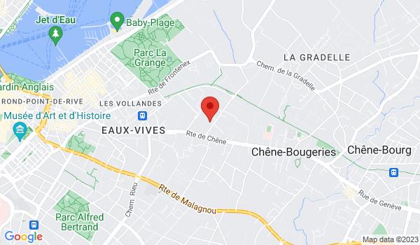 Carte situant Appartement à vendre, Cologny