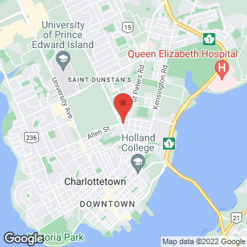 Map of Tim Hortons at 20 Mount Edward Rd, Charlottetown, PE C1A 5N4