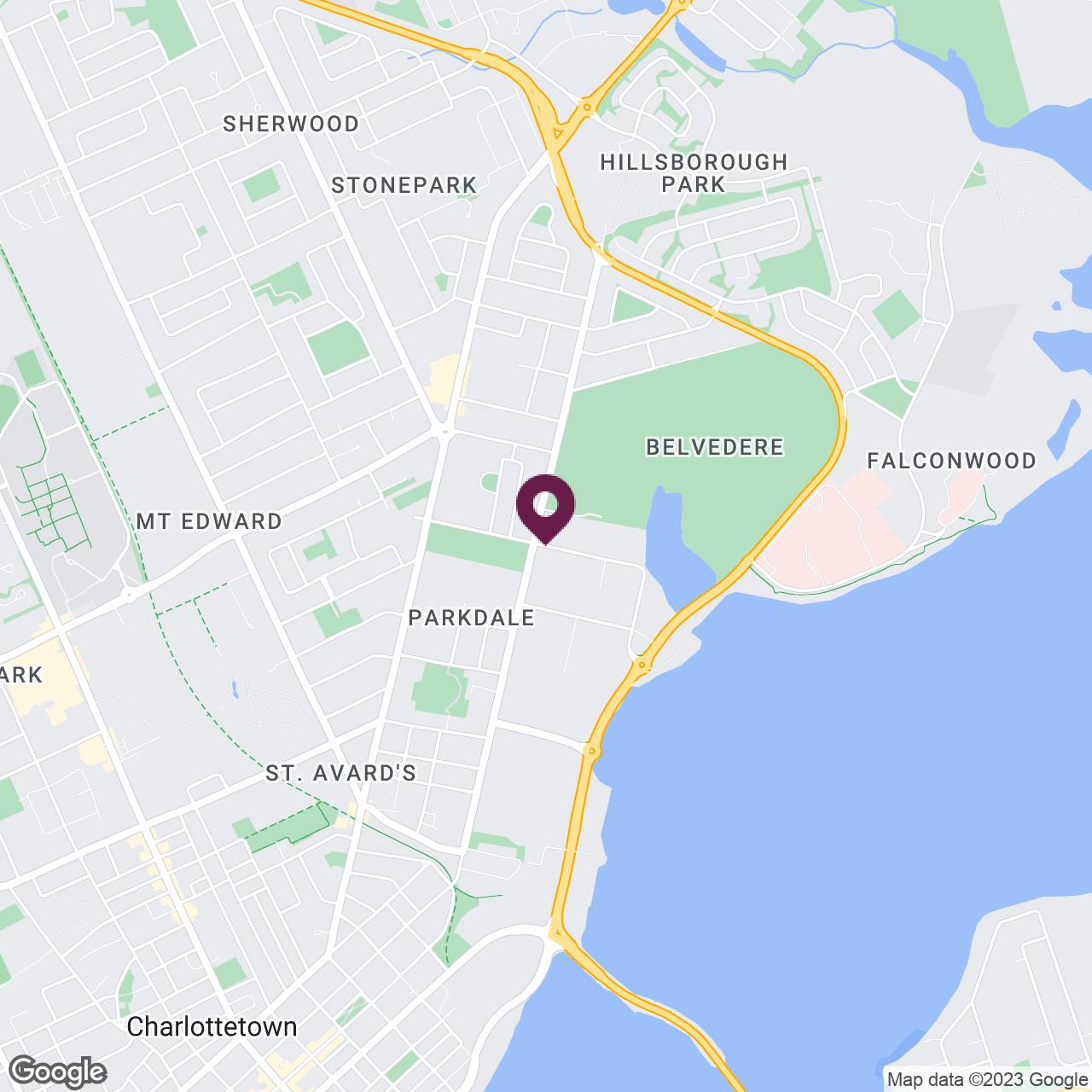 Google Maps static image of Prince Edward Island