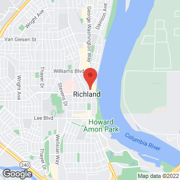 Map of Verizon Authorized Retailer, TCC at 1041 George Washington Way, Richland, WA 99352