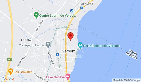 Google map positionnant le bien Studio meublé à deux pas du bord du lac à Versoix