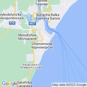 Карта города Ильичевска (Черноморска)