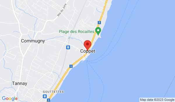 Google map positionnant le bien Appartement de 2,5 pièces avec balcon à Coppet