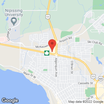 Map of Staples Print & Marketing Services at 1899 Algonquin Avenue, North Bay, ON P1B 4Y8