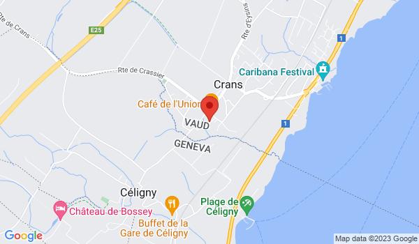 Google map positionnant le bien Superbe 2,5 pièces à Crans-près-Céligny