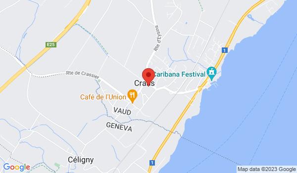 Google map positionnant le bien Superbe 5 pièces en duplex à Crans-près-Céligny