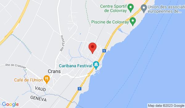 Google map positionnant le bien Belle villa à louer à Crans-près-Céligny