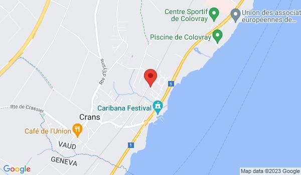 Google map positionnant le bien Magnifique villa traditionnelle à Crans-près-Céligny