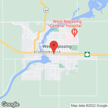 Map of Tim Hortons at 82 Front St, Sturgeon Falls, ON P2B 2H2