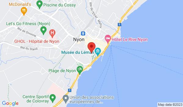 Google map positionnant le bien Somptueux 7,5 pièces d'env. 250m2 avec vue panoramique à Nyon