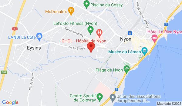 Google map positionnant le bien Magnifique appartement de 2,5 pièces avec balcon à Nyon