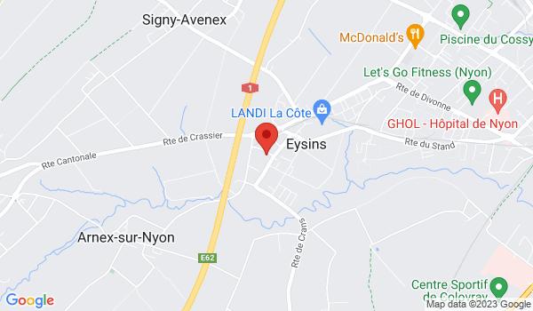 Google map positionnant le bien Places de parc intérieures à Eysins